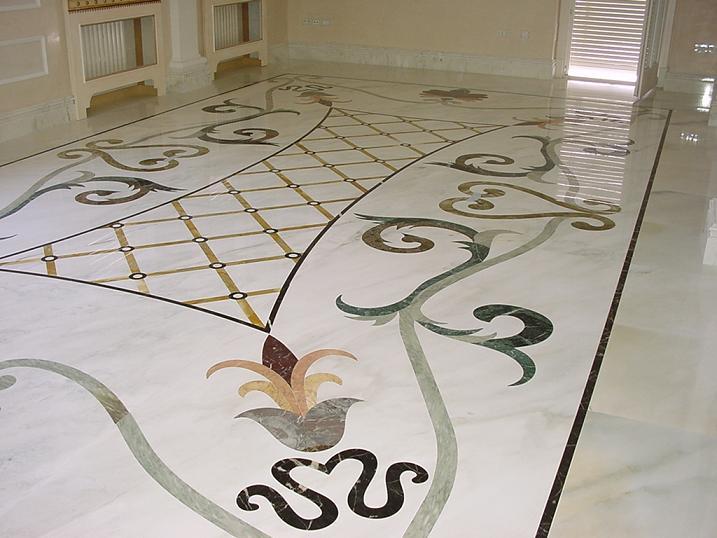 Tavoli Di Marmo Intarsiati : Lavorazione artistica del marmo. pavimenti con disegni scale